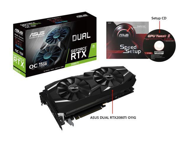 ASUS Dual GeForce RTX 2080 Ti DirectX 12 DUAL-RTX2080TI-O11G Video Card -  Newegg com