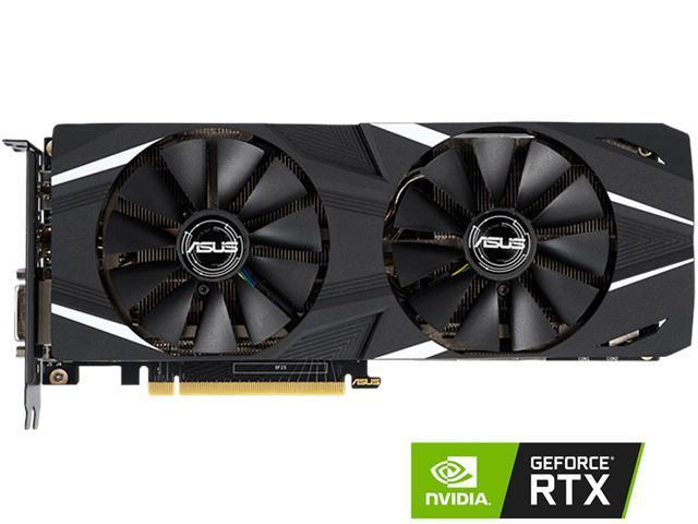 ASUS Dual GeForce RTX 2060 DirectX 12 DUAL-RTX2060-O6G 6GB 192-Bit GDDR6  PCI Express 3 0 HDCP Ready Video Card - Newegg com
