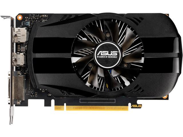 ASUS GeForce GTX 1650 4GB Phoenix Fan Overclocked Edition HDMI DP DVI  Graphics Card (PH-GTX1650-O4G) - Newegg ca