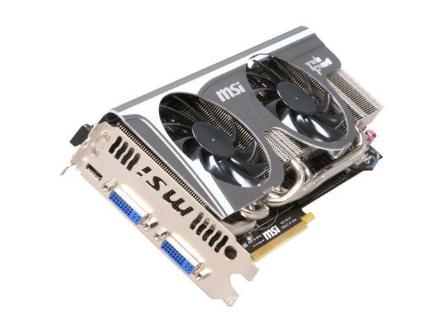 MSI GeForce GTX 580 (Fermi) DirectX 11 N580GTX Twin Frozr II/OC 1536MB  384-Bit GDDR5 PCI Express 2 0 x16 HDCP Ready SLI Support Video Card -