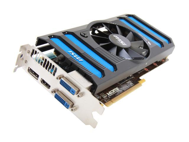 MSI GeForce GTX 660 Ti DirectX 11 N660TI-2GD5/OC 2GB 192-Bit GDDR5 PCI Express 3.0 x16 HDCP Ready SLI Support Video Card