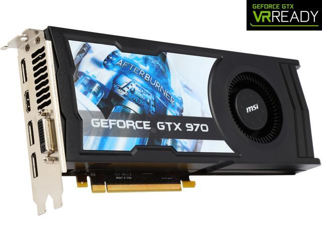 MSI GeForce GTX 970 4GB OC DirectX 12 VR READY Video Card - Newegg com