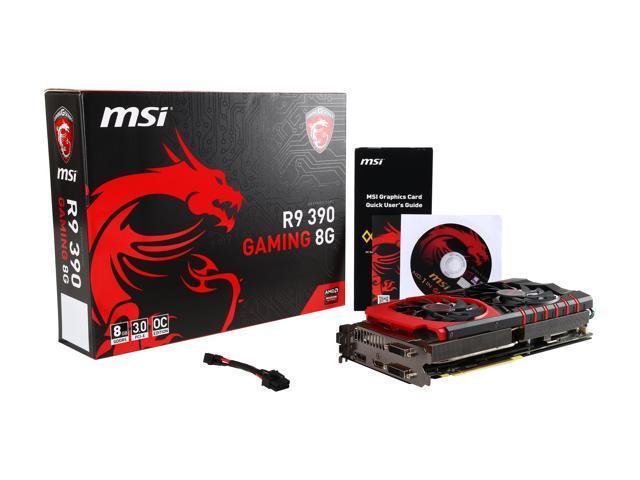 Used - Like New: MSI Radeon R9 390 DirectX 12 R9 390 GAMING 8G Video Card -  Newegg com