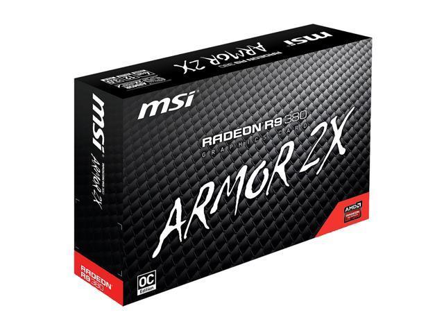 MSI Radeon R9 380 DirectX 12 R9 380 4GD5T OC Video Card - Newegg com