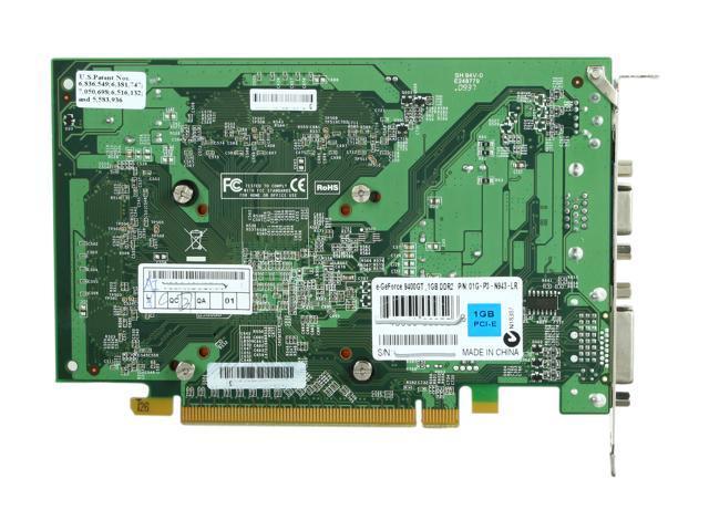 GENUINE EVGA GeForce 9400 GT 1GB DDR2 Video Graphic Card 01G-P3-N943-LR