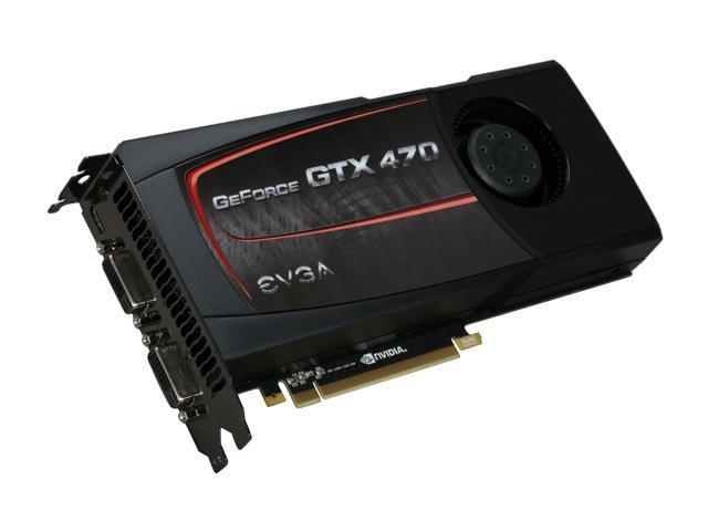 EVGA 012-P3-1472-AR GeForce GTX 470 (Fermi) SuperClocked 1280MB 320-bit  GDDR5 PCI Express 2 0 x16 HDCP Ready SLI Support Video Card - Newegg com