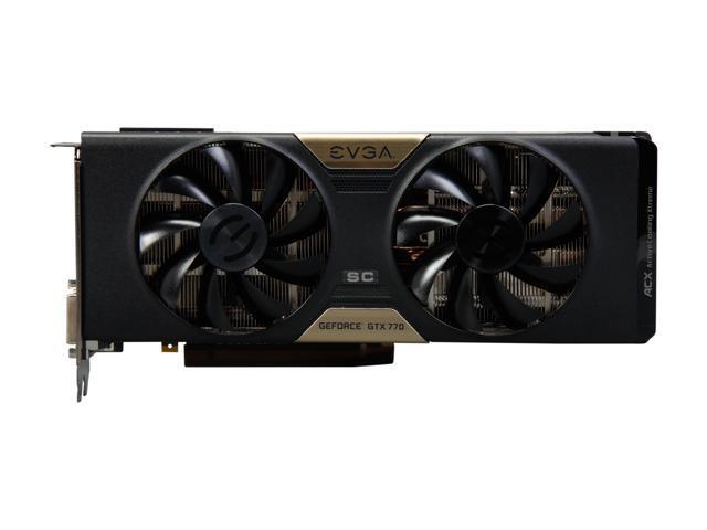 Used - Very Good: EVGA GeForce GTX 700 SuperClocked GeForce GTX 770 DirectX  12 (feature level 11_0) 04G-P4-3774-KR Video Card - Newegg com