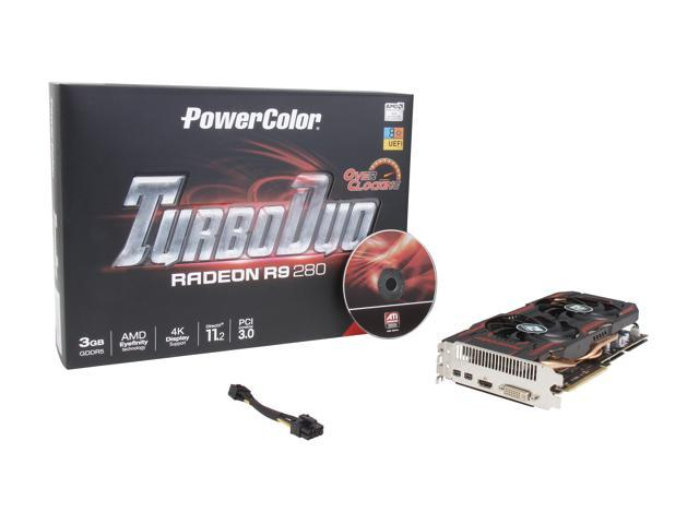 PowerColor TurboDuo Radeon R9 280 DirectX 11 2 AXR9 280 3GBD5-T2DHE/OC  Video Card - Newegg com