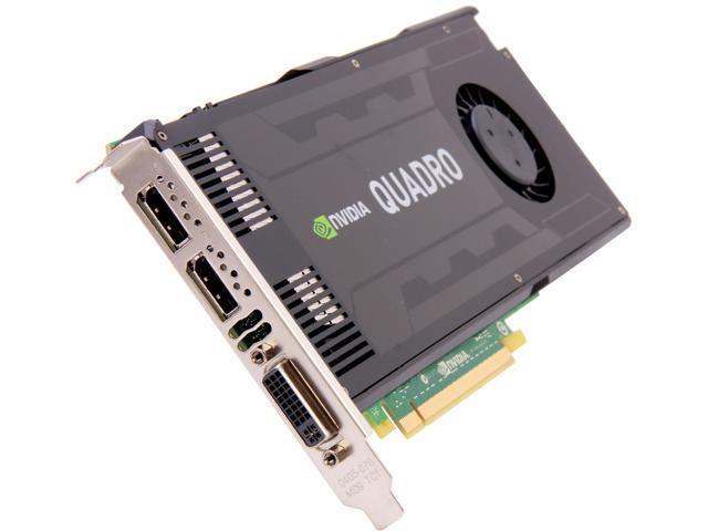 NVIDIA Quadro K4000 VCQK4000-PB 3GB 192-bit GDDR5 PCI Express 2 0 x16 Full  Height Workstation Video Card - Newegg com