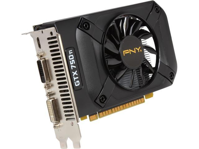PNY GeForce GTX 750 Ti DirectX 11.2 VCGGTX750T2XPB 2GB 128-Bit GDDR5 PCI Express 3.0 x16 Video Card