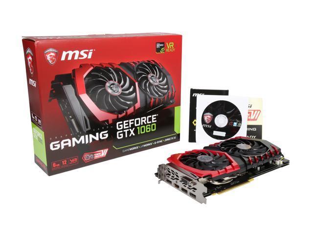 MSI GeForce GTX 1060 DirectX 12 GeForce GTX 1060 GAMING 6G Video Card -  Newegg com