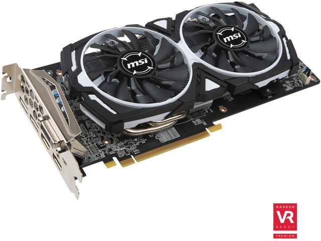MSI Radeon RX 480 DirectX 12 RX 480 ARMOR 8G OC Video Card - Newegg com