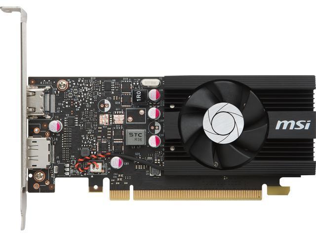 MSI GT 1030 2G LP OC NVIDIA PCI-E Graphic Card - 64 bit Bus Width - Fan  Cooler - DirectX 12, OpenGL 4 5 - 1 x DisplayPort - 1 x HDMI - PC - 2 x