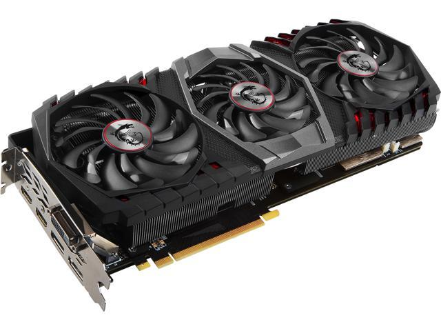 MSI GeForce GTX 1080 Ti DirectX 12 GTX 1080 Ti GAMING X TRIO Video Card -  Newegg com