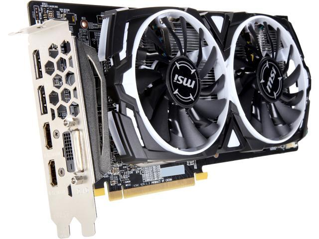 Refurbished: MSI Radeon RX 580 DirectX 12 RX 580 ARMOR 4G OC Video Card -  Newegg com