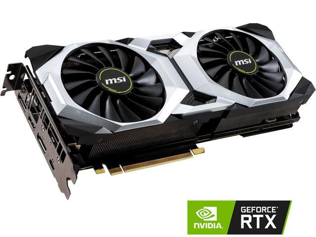 MSI GeForce RTX 2080 DirectX 12 RTX 2080 VENTUS 8G OC 8GB 256-Bit GDDR6 PCI Express 3.0 x16 HDCP Ready SLI Support Video Card
