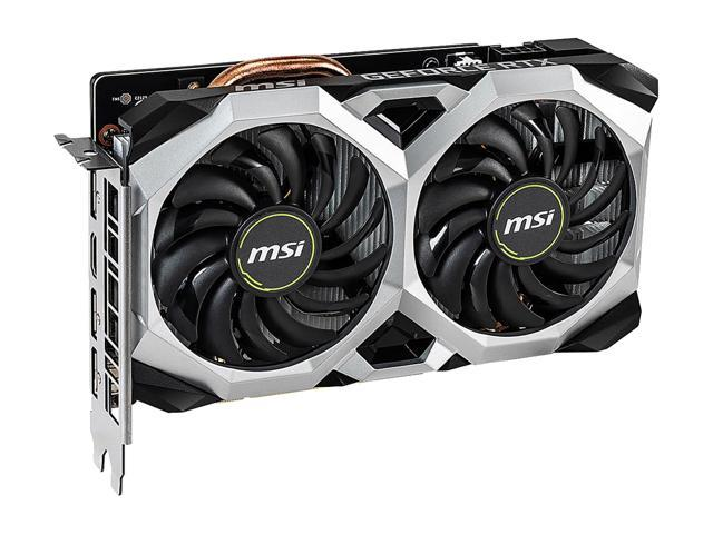 MSI GeForce RTX 2060 DirectX 12 RTX 2060 VENTUS XS 6G OC 6GB 192-Bit GDDR6 PCI Express 3.0 x16 HDCP Ready Video Card