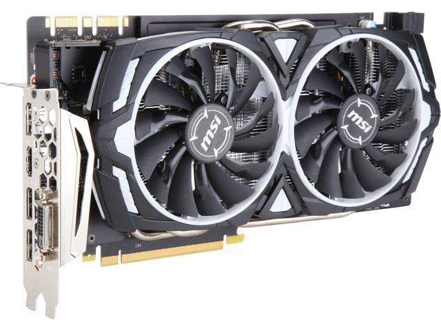MSI GeForce GTX 1070 ARMOR 8GB Overclocked PC Video Card