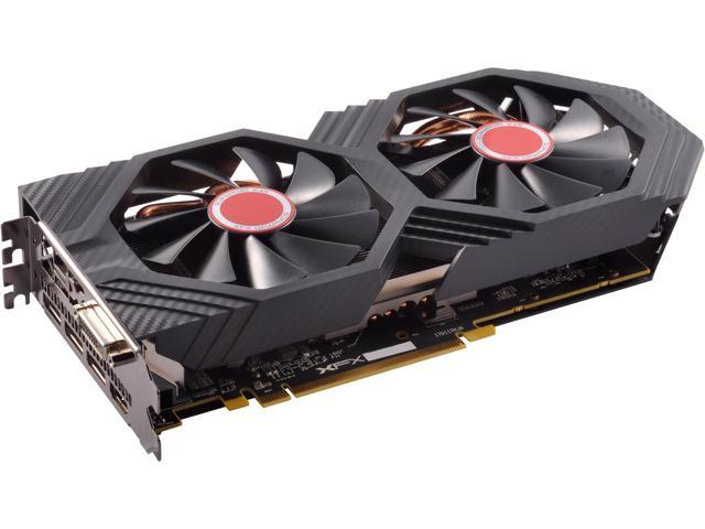 XFX Radeon RX 580 GTS Black Edition 1405 MHz OC+, 8GB 256-bit GDDR5, DX12  VR Ready, Double Dissipation, Dual BIOS, PCI-E AMD Graphics Card