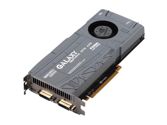 Galaxy GeForce GTX 470 (Fermi) DirectX 11 70XKH3HS8GUX 1280MB 320-Bit DDR5  PCI Express 2 0 x16 HDCP Ready SLI Support Video Card - Newegg com
