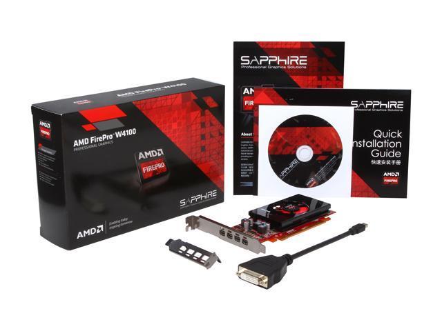 Used Like New Amd Firepro W4100 100 505979 2gb 128 Bit Gddr5 Pci Express 3 0 X16 Half Height Workstation Video Card Newegg Com