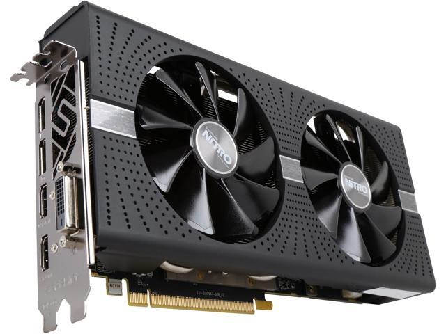 Sapphire Nitro RX 570 4GB GDDR5 Graphics card Fully tested DVI 2 HDMI 2 DP