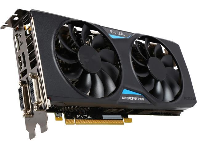 Refurbished: EVGA GeForce GTX 970 DirectX 12 04G-P4-2977-RX 4GB 256-Bit  GDDR5 PCI Express 3 0 SLI Support Superclocked+ ACX 2 0 Video Card -  Certfied