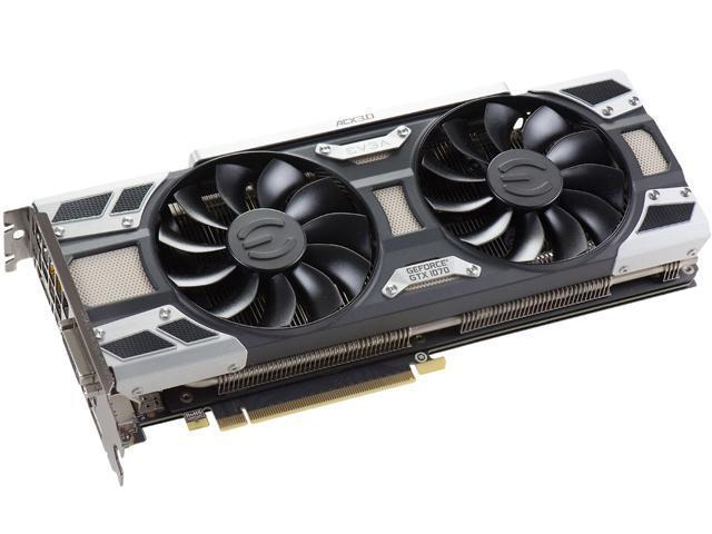 EVGA GeForce GTX 1070 SC GAMING ACX 3 0, 08G-P4-6173-KR, 8GB GDDR5, LED,  DX12 OSD Support (PXOC) - Newegg com