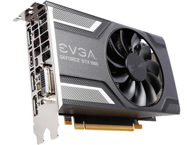 EVGA GeForce GTX 1060 SC GAMING, ACX 2 0 (Single Fan), 06G-P4-6163-KR, 6GB  GDDR5, DX12 OSD Support (PXOC), Only 6 8 Inches - Newegg com