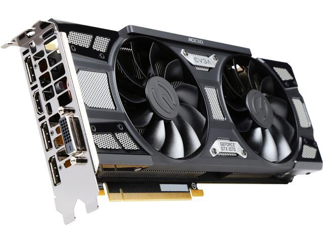 EVGA GeForce GTX 1070 SC GAMING ACX 3 0 Black Edition, 08G-P4-5173-KR, 8GB  GDDR5, LED, DX12 OSD Support (PXOC) - Newegg com