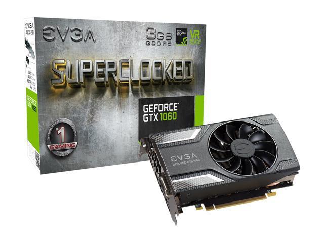 EVGA GeForce GTX 1060 SC GAMING, ACX 2 0 (Single Fan), 03G-P4-6162-KR, 3GB  GDDR5, DX12 OSD Support (PXOC) - Newegg com