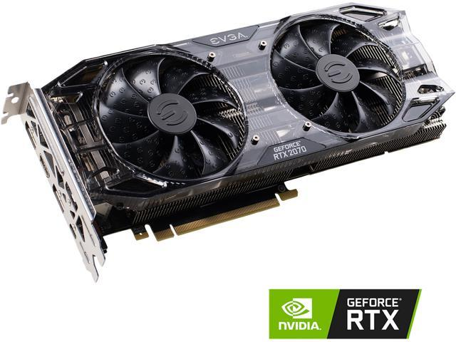 EVGA GeForce RTX 2070 XC BLACK EDITION GAMING, 08G-P4-2071-KR, 8GB GDDR6,  Dual HDB Fans & RGB LED - Newegg com