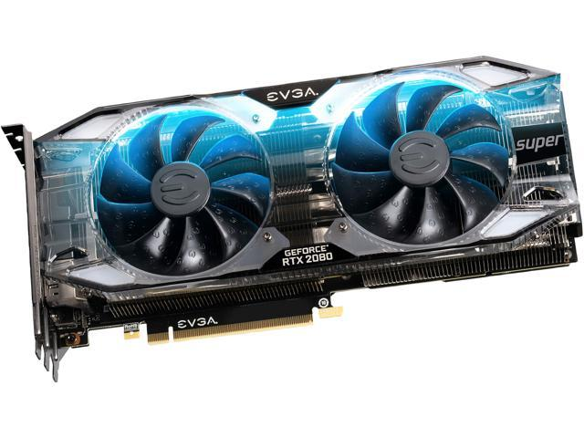 EVGA GeForce RTX 2080 SUPER XC ULTRA GAMING Video Card, 08G-P4-3183-KR, 8GB GDDR6, RGB LED, Metal Backplate