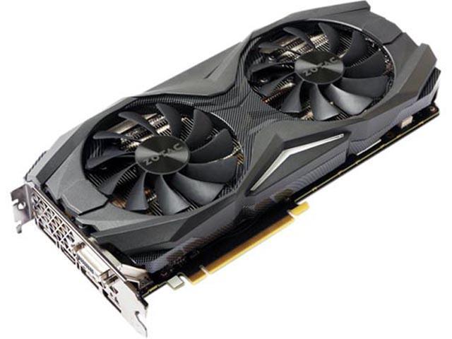 ZOTAC GeForce GTX 1070 AMP! Edition, ZT-P10700C-10P, 8GB GDDR5 IceStorm  Cooling, Metal Wraparound Carbon ExoArmor exterior, Ultra-wide 100mm Fans,