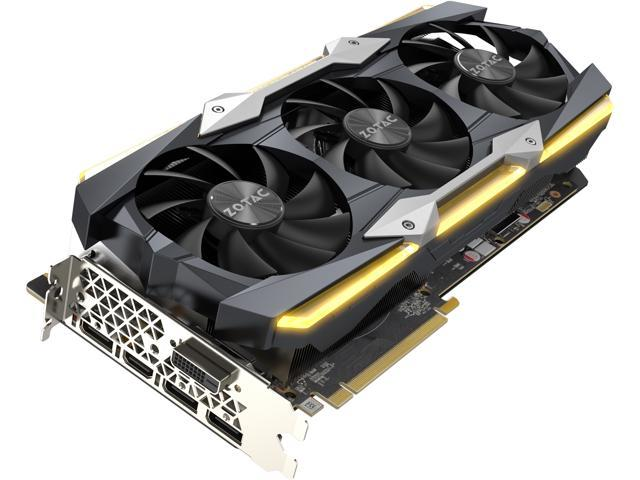 ZOTAC GeForce GTX 1080 Ti AMP Extreme Core 11GB GDDR5X 352-bit Gaming  Graphics Card VR Ready 16+2 Power Phase Freeze Fan Stop IceStorm Cooling  Spectra