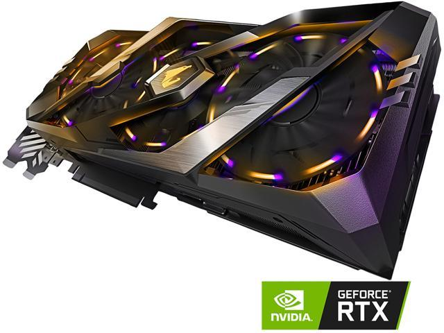 GIGABYTE AORUS GeForce RTX 2080 8G Graphics Card, 3 x Stacked WINDFORCE  Fans, 8GB 256-Bit GDDR6, GV-N2080AORUS-8GC Video Card - Newegg com
