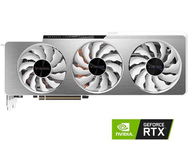 Gigabyte Vision GeForce RTX 3080 Ti 12GB GDDR6X PCI Express 4.0 x16 ATX Video Card GV-N308TVISION OC-12GD