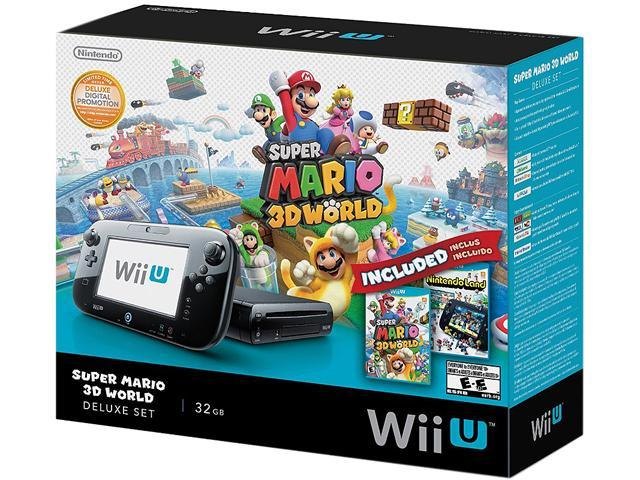 Nintendo Wii U Deluxe Set: Super Mario 3D World and Nintendo Land ...