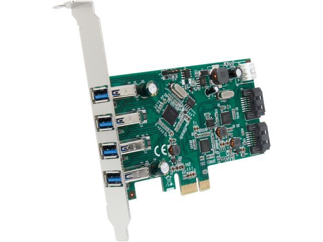 SYBA 6-port (4x USB 3.0; 2x SATAIII) PCIe x1, Revision 2.0, VLI/ASMedia Chipsets with Standard Model SD-PEX50064
