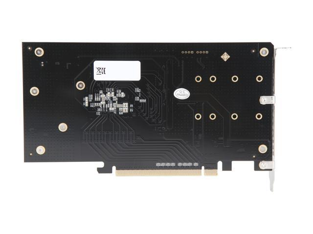 SYBA Dual M 2 NVMe Ports to PCIe 3 0 x16 Bifurcation Riser Controller -  Support Non-BiFurcation Motherboard, SI-PEX40129 - Newegg com