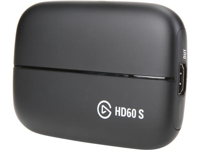 Elgato Game Capture HD60 S - Stream, Record and Share Your Gameplay in  1080p 60 FPS, Superior Low Latency Technology, USB 3 0, For PS4, Xbox One  and