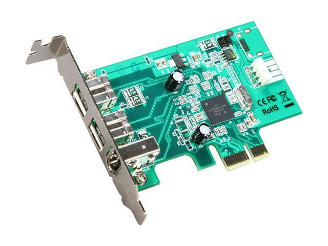 StarTech.com 3 Port 2b 1a Low Profile 1394 PCI Express FireWire Card Adapter Model PEX1394B3LP