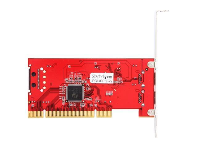 StarTech com 2 Port PCI SuperSpeed USB 3 0 Adapter Card with SATA Power  Model PCIUSB3S22 - Newegg com