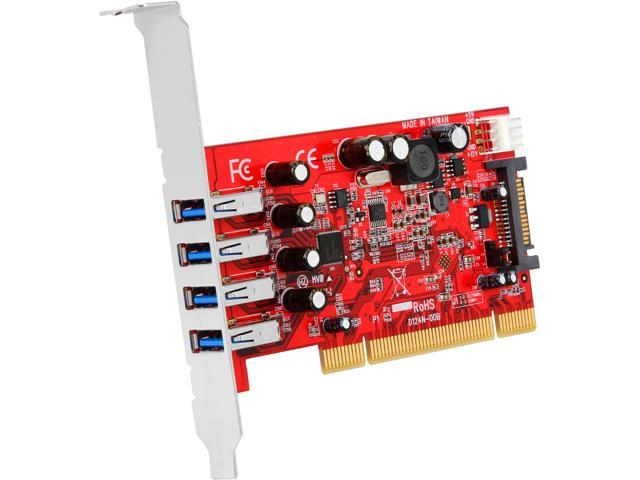 StarTech.com 4 Port PCI SuperSpeed USB 3.0 Adapter Card with SATA / SP4 Power Model PCIUSB3S4