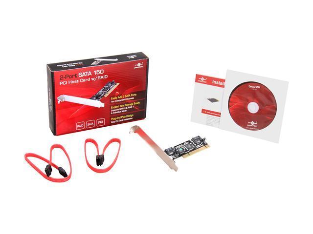 UGT-ST220R Vantec 2-Port SATA 150 PCI Host Card with RAID