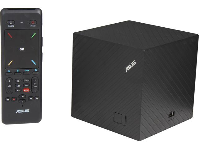 ASUS CUBE with Google TV – Interactive Powerful Media Streamer w/ 50 GB Free ASUS WebStorage, Featuring Voice Search & 2-sided Remote w/Mic. QWERTY Keyboard and Motion Sensors