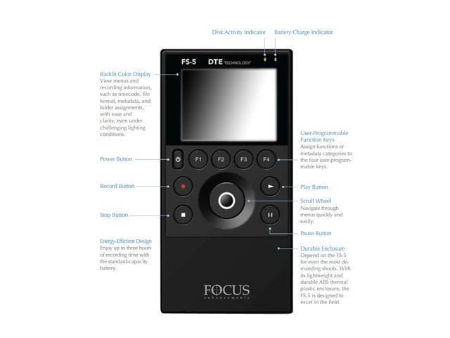 Focus Enhancements Fs 5 60gb Portable Dte Recorder Version 2 0