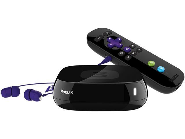 Roku 3 Digital HD Streaming Media player w/ Headphones Game Remote