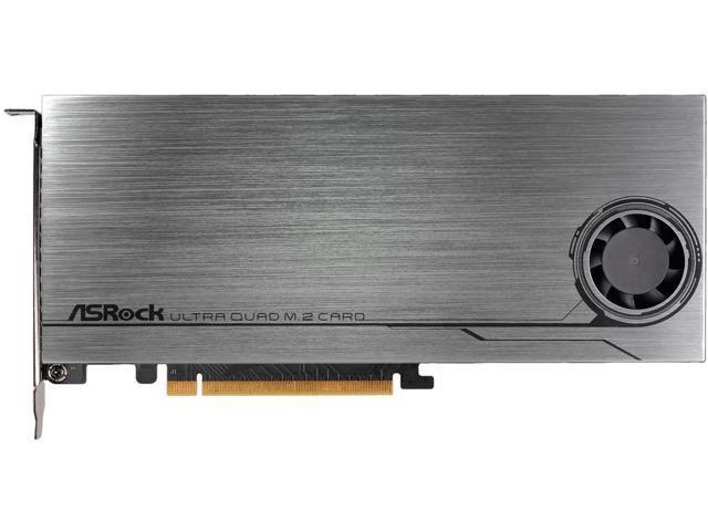 ASRock ULTRA QUAD M 2 CARD PCI-e to 4x M 2 Card - Newegg com
