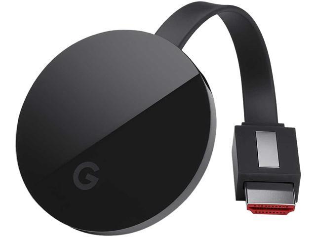 Google Chromecast Ultra, Stream 4K and HDR, Built-in Ethernet Adapter -  Newegg com